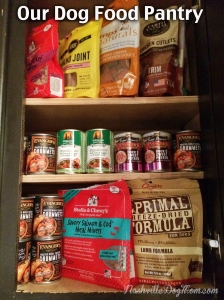 Dehydrated raw foods, such as Stella & Chewy's and Primal Freeze Dried Formula, are always in stock in our pet pantry to use as meal mixers for our dogs.