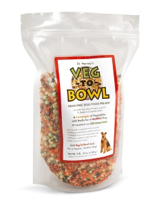 Dr. Harvey's Veg-To-Bowl pre-mix lets you add your own raw or cooked protein sources and oil to create a balanced diet for your dog.